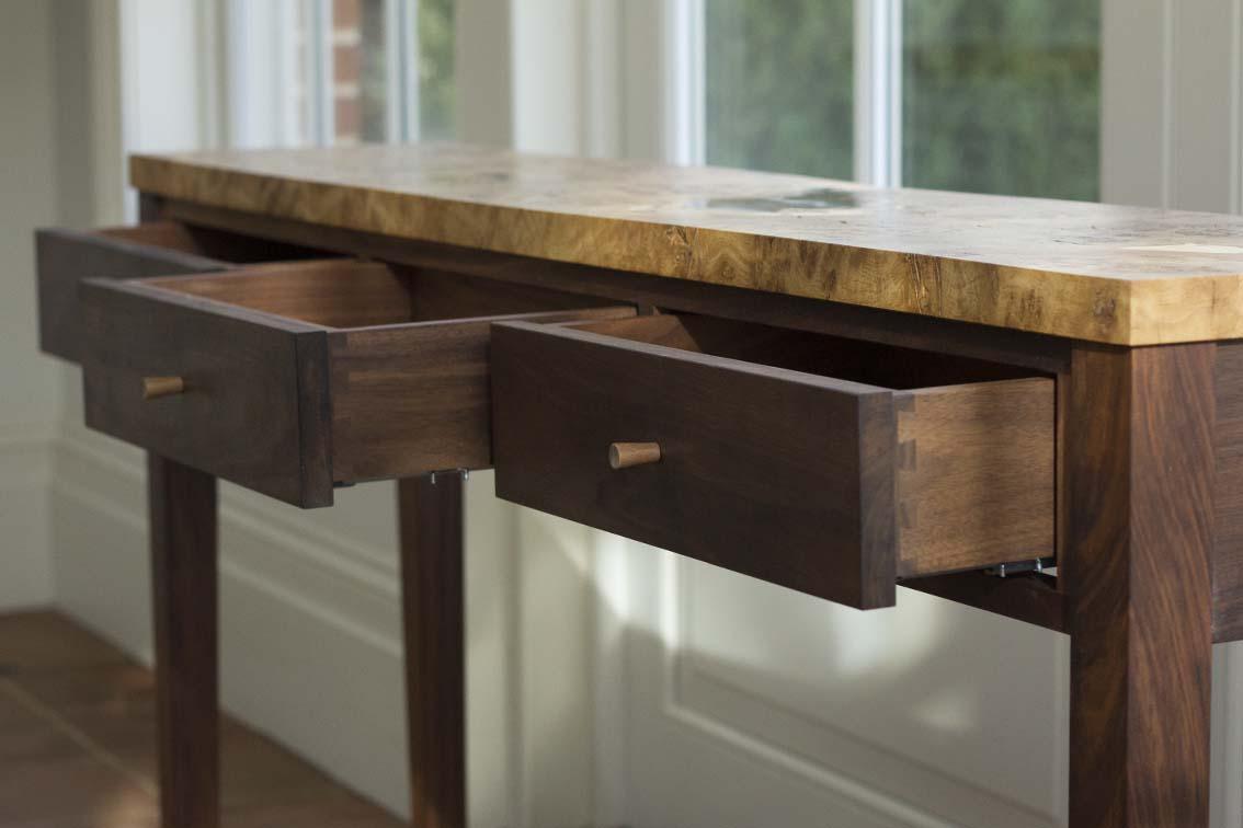 Console Table & Oak Desk