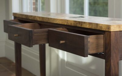 Console Table & Oak Desk